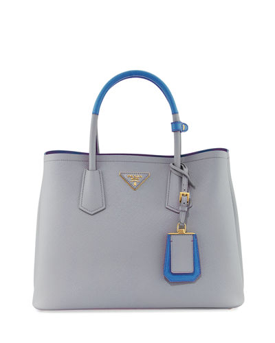 Saffiano Cuir Medium Bicolor Double Tote Bag