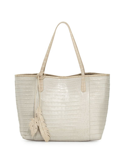 Nancy Gonzalez Erica New Crocodile Leaf Tote Bag