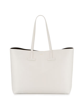 Image 1 of 4: Medium Grained Leather Tote Bag