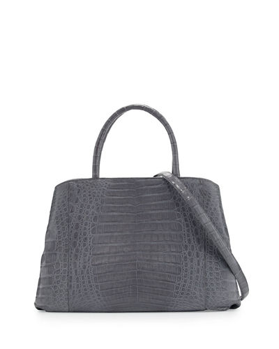 Crocodile Large Center-Zip Tote Bag
