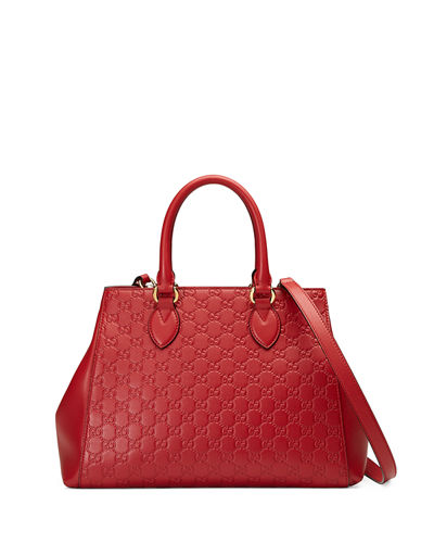 Gucci Signature Top-Handle Tote Bag