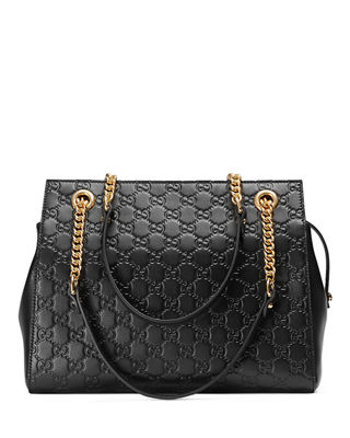 Gucci Gucci Signature Chain-Handle Tote Bag