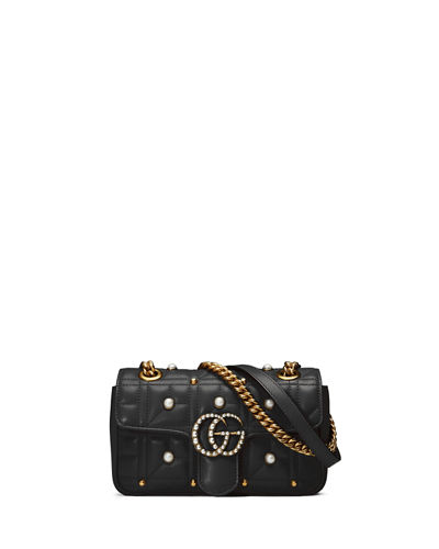 GG Marmont Pearly Matelassé Mini Bag