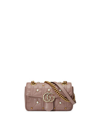 Image 1 of 4: GG Marmont Pearly Matelassé Mini Bag