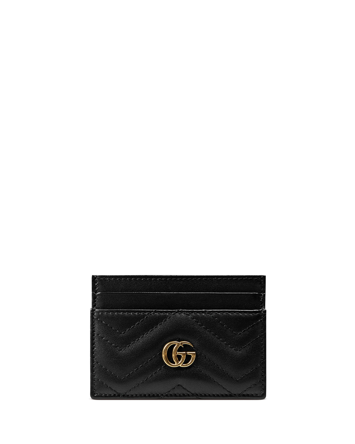 739662709acc73 Gucci GG Marmont Matelasse Card Case | Neiman Marcus