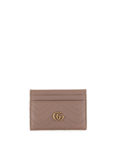 GG Marmont Matelasse Card Case