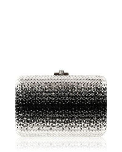 Slim Slide Crystal Evening Clutch Bag