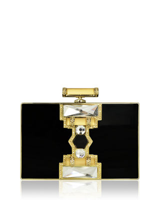 Judith Leiber Couture Jazz Age Ridged Rectangle Marble