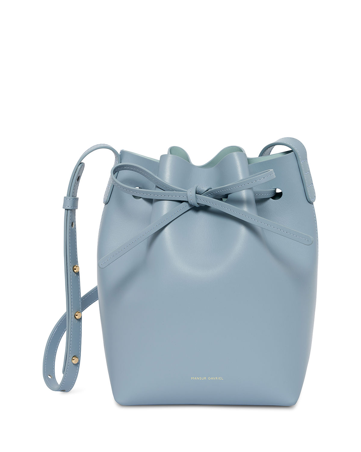 Calf Leather Mini Bucket Bag