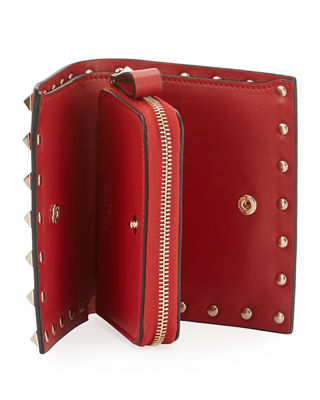 Image 2 of 2: Rockstud Leather French Wallet