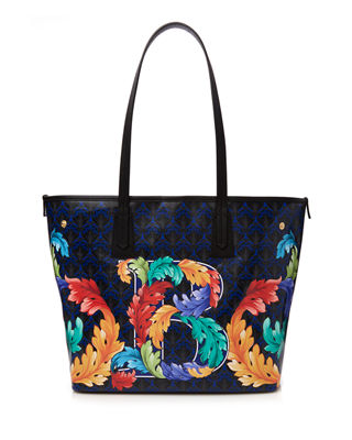 Image 1 of 5: Alphabet Iphis-Print Tote Bag
