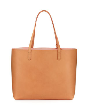 b27363e13298 Mansur Gavriel Large Vegetable-Tanned Leather Tote Bag