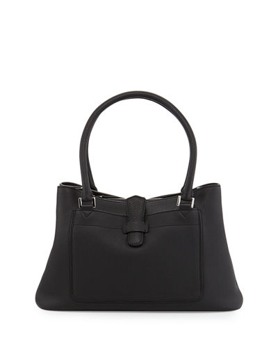 Loro Piana Bellevue Media Leather Tote Bag