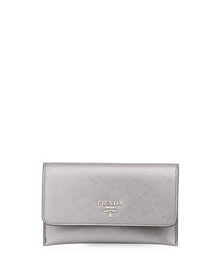 Image 1 of 2: Saffiano Flap Wallet