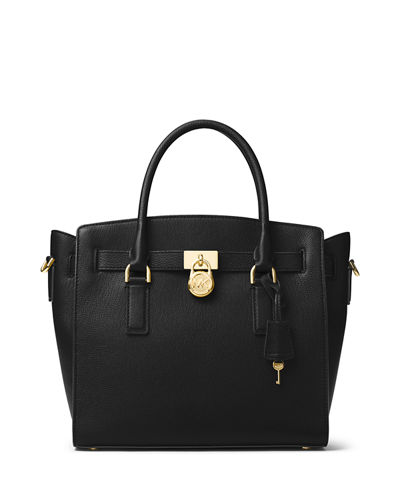 MICHAEL Michael Kors Hamilton Large East-West Leather Satchel