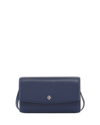 Tory Burch Robinson Pebbled Leather Wallet on Crossbody
