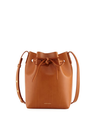 Image 1 of 3: Vegetable-Tanned Leather Mini Bucket Bag