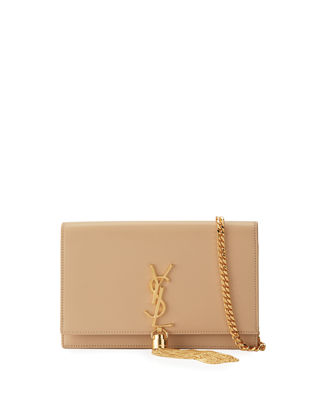 Saint Laurent Kate Monogram Tassel Wallet on Chain