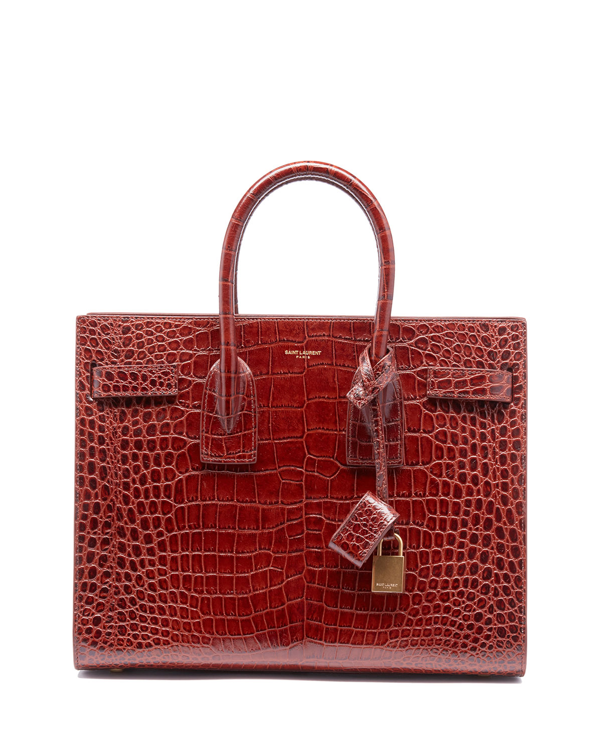 Saint Laurent Sac de Jour Baby Crocodile-Embossed Leather Satchel ... 1a21202d16a35