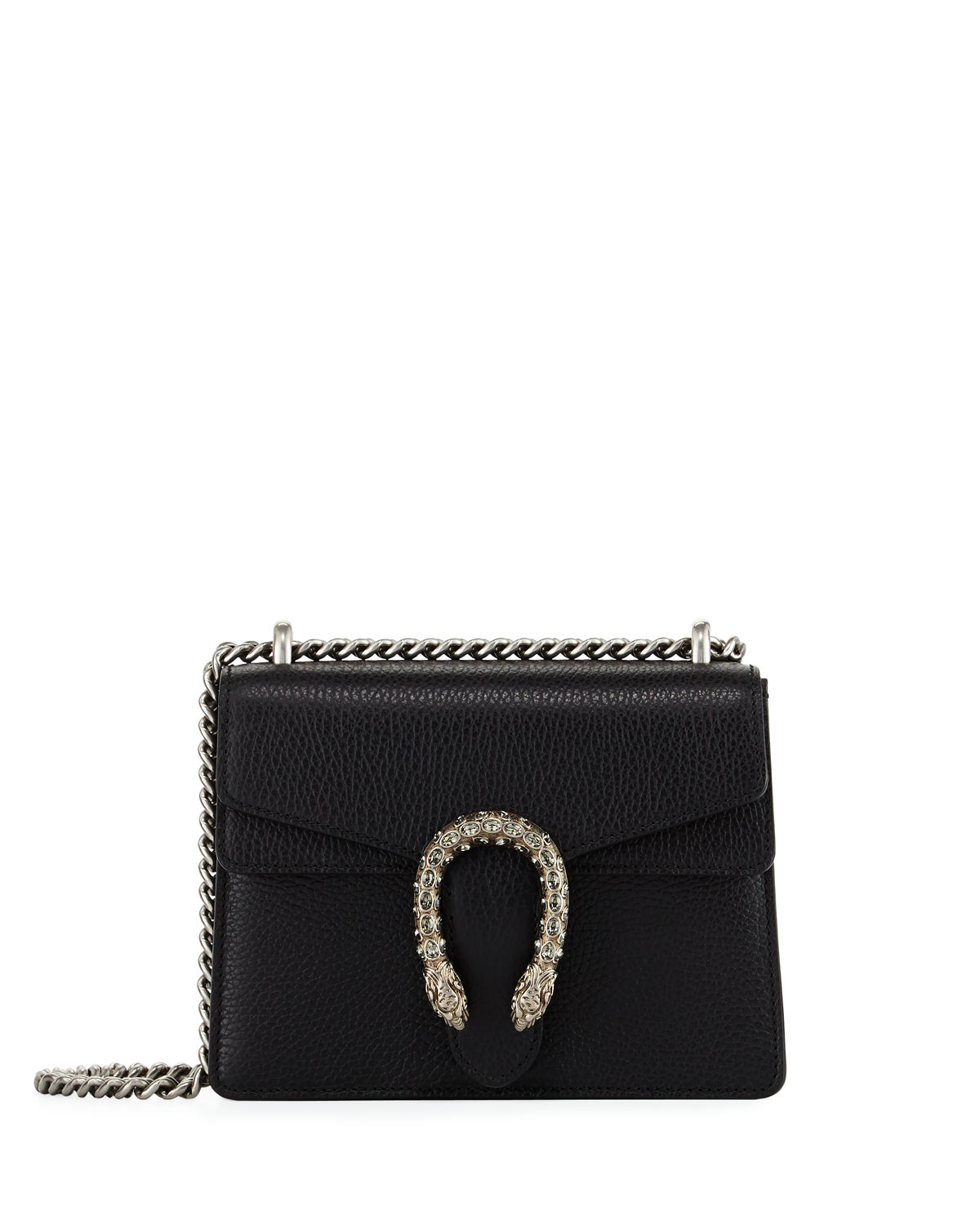 5a369989db59 Gucci Dionysus Leather Crystal Mini Bag | Neiman Marcus