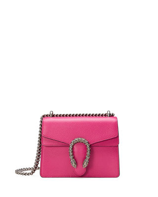 MINI DIONYSUS LEATHER SHOULDER BAG - PINK