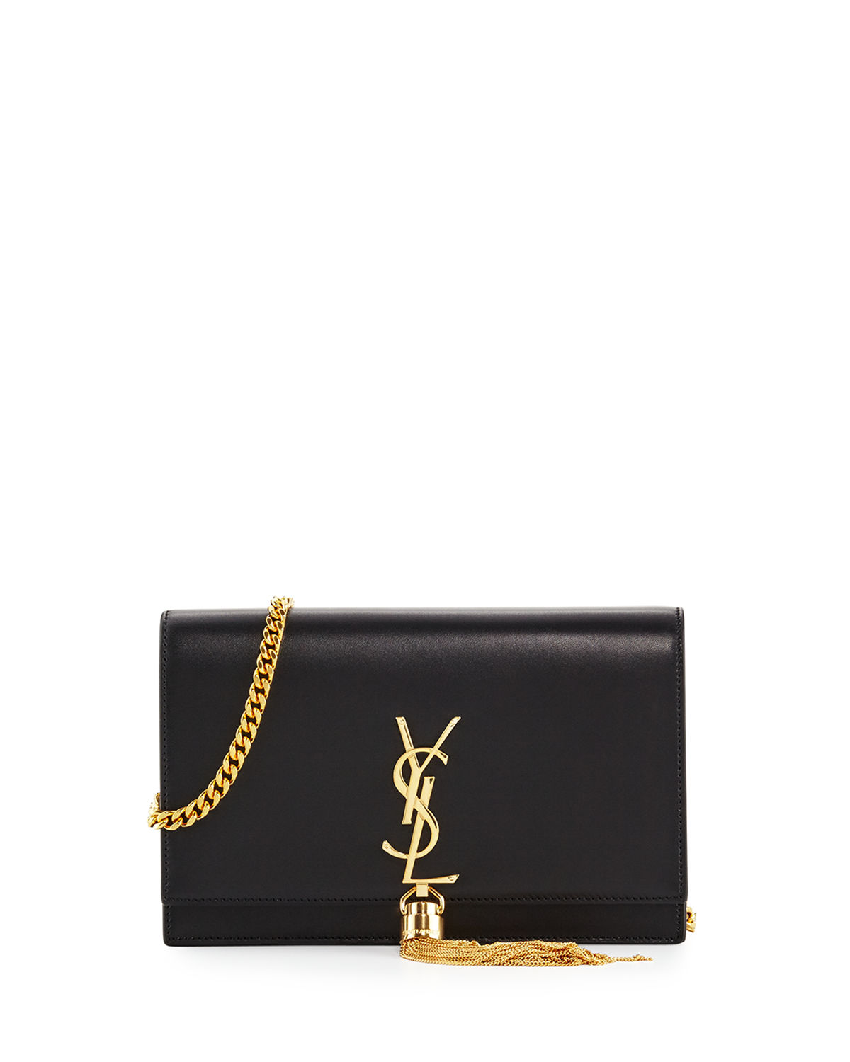 bbc90085aed Saint Laurent Kate Monogram YSL Tassel Chain Wallet | Neiman Marcus