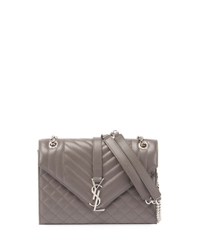 Saint Laurent Kate Monogram Medium Mixed-Matelassé Chain