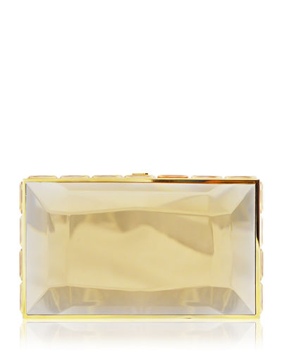 Speccio Faceted Box Clutch Bag