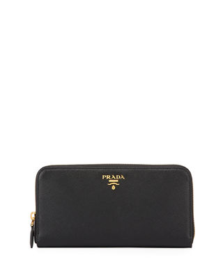 Saffiano Zip-Around Wallet