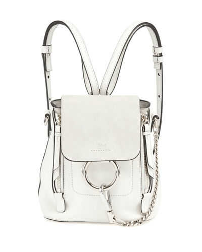 Chloe Faye Mini Leather/Suede Backpack