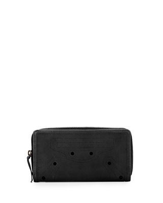 Image 1 of 2: BlackOut Perforated Calf Leather Wallet