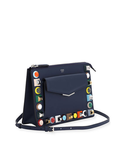 Fendi Mini Studded Crossbody Pouch