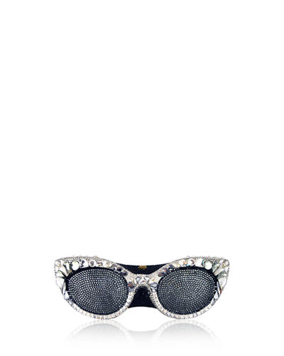 Judith Leiber Couture Crystal-Embellished Eyeglass Clutch Bag