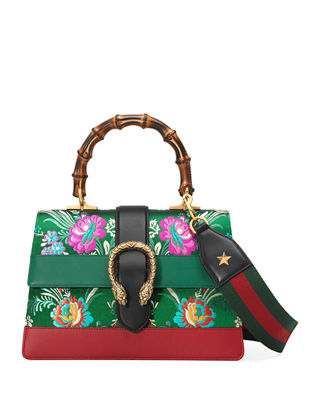 Image 1 of 4: Dionysus Medium Jacquard Top-Handle Satchel Bag