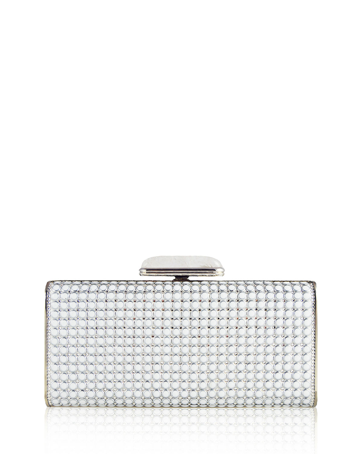 Soft-Sided Rectangle Clutch with Enamel Dots