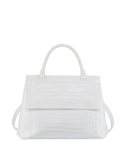 New Top-Handle Crocodile Satchel Bag
