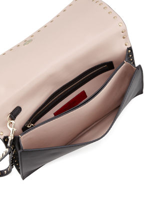 Image 2 of 3: Rockstud Flap Wristlet Clutch Bag