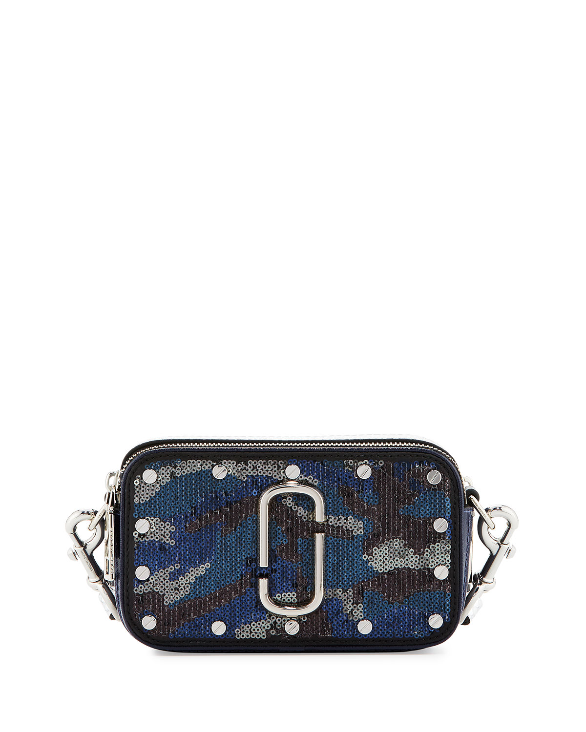 Snapshot Sequined-Camouflage Camera Bag