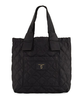 Small Quilted Nylon Knot Tote Bag