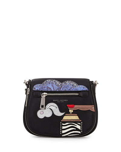 Marc Jacobs Nomad Small Appliqué Saddle Bag
