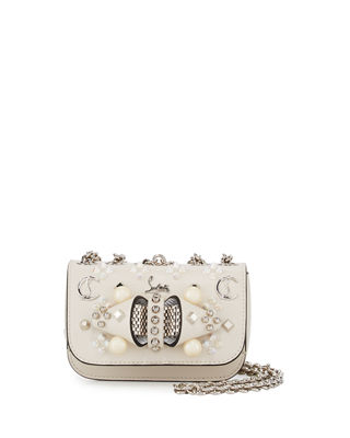 Image 1 of 3: Sweet Charity Mixed-Stud Leather Crossbody Bag
