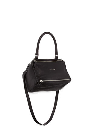 Givenchy Pandora Small Sugar Leather Shoulder Bag, Black