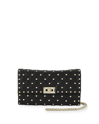 Valentino Garavani Quilted Rockstud Spike Chain Shoulder Bag