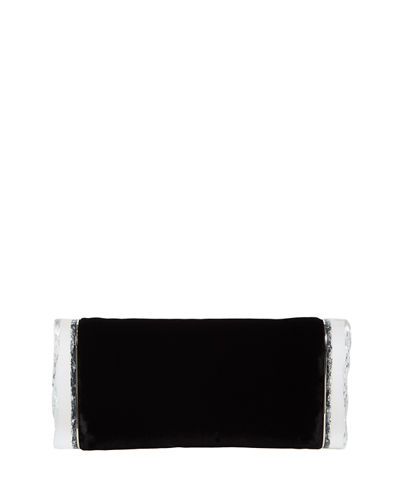 Soft Lara Velvet Clutch Bag