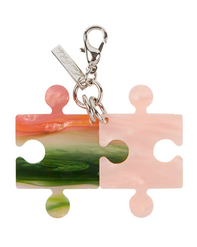 Edie Parker Pearlescent Resin Puzzle Charm