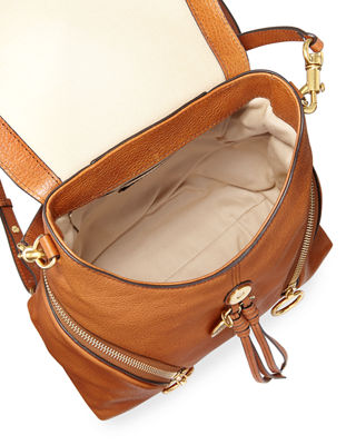 Image 2 of 3: Olga Zip-Side Leather Backpack