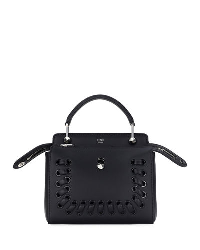 Dotcom Click Whipstitch Leather Shoulder Bag
