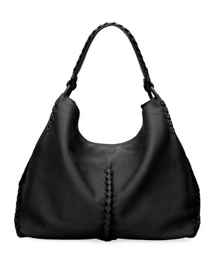 189d885a6ff Bottega Veneta Medium Deerskin Leather Hobo Bag