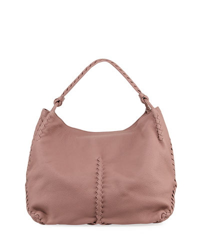 Medium Deerskin Leather Hobo Bag