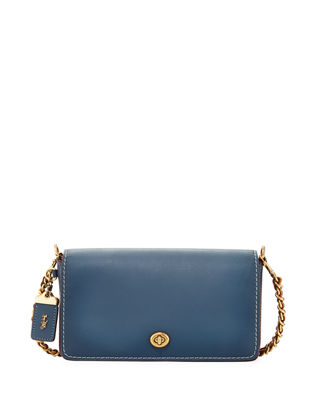 Image 1 of 3: Dinky Small Leather Crossbody Bag